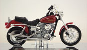 FXDL Dyna Low Rider, Harley Davidson, scale 1:18 in Red by Maisto, miniature diecast scale model bike