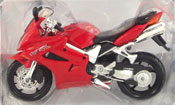 Honda VFR, scale 1:18 in Red by Maisto, miniature diecast scale model bike
