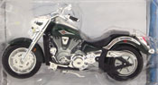 Kawasaki Vulcan, scale 1:18 in Green by Maisto, miniature diecast scale model bike