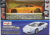 Lamborghini Murcielago LP640-Assembly Kit, scale 1:24 in Orange by Maisto, diecast scale model car Assembly kit, toy car, toy car assembly  kit, kids toys, toys for boys, vehicle toys, licensed automobile miniature replica model vehicle