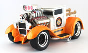 Ford Model AA 1929, scale 1:18 in White-Orange by Maisto, diecast miniature scale model car dragster
