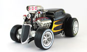 Ford 1933, scale 1:18 in Black by Maisto, diecast miniature scale model car dragster