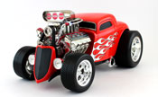 Ford 1933, scale 1:18 in Red by Maisto, diecast miniature scale model car dragster