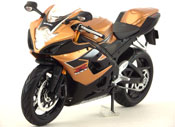 Suzuki GSX R1000, scale 1:12 in Golden Brown by Maisto, miniature diecast scale model bike