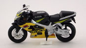 Suzuki GSX R600, scale 1:18 in Black-Yellow by Maisto, diecast scale model bike