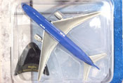 Boeing 777-200, size 4.7 inches in Blue-Silver by Maisto, miniature diecast scale model plane, toy plane, kids toys, toys for boys, vehicle toys, licensed automobile miniature replica model vehicle