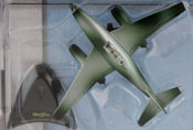Messerschmitt Me-262, size 3.5 inch in Green-Silver by Maisto, miniature diecast scale model plane, Maisto Tailwinds