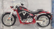 Victory Vegas Jackpot, scale 1:18 in Red-Black by Maisto, miniature diecast scale model bike