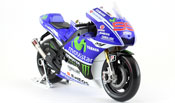 Yamaha YZR-M1, No.99 Yamaha Factory Racing, scale 1:10 in Blue-White by Maisto, diecast miniature scale model bike, grand prix bike scale model.