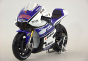 Yamaha YZR M1 Factory Racing, No.99, scale 1:10 in Blue-White by Maisto, miniature diecast scale model bike