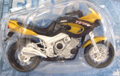 Yamaha TDM, scale 1:18 in Black-Yellow by Maisto, miniature diecast scale model bike