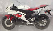 Yamaha YZF-R6 2008, scale 1:18 in White-Red by Maisto, miniature diecast scale model bike