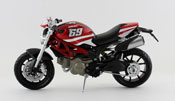 Ducati Monster 796 No.69, scale 1:12 in Red-White by NewRay, diecast miniature scale model bike.