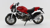 Ducati Monster S4, scale 1:12 in Red by NewRay, diecast miniature scale model bike.