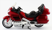 Honda GoldWing, scale 1:12 in Red by NewRay, diecast miniature scale model bike