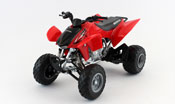 Honda TRX 450R ATV, scale 1:12 in Red by NewRay, diecast miniature scale model bike, all terrain vehicle model