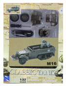 M16 Half-track Military vehicle, Assembly Kit, scale 1:32 in Green by NewRay, diecast miniature scale model military vehicle, model military vehicle assembly kit, half-track miniature model assembly kit.