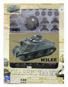 M3 LEE Tank, Assembly Kit, scale 1:32 in Green by NewRay, diecast miniature scale model military vehicle, model military vehicle assembly kit, Tank miniature model assembly kit.