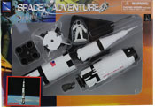 Saturn V rocket, space adventure assembly kit by NewRay, miniature scaled model spacecraft, astronautical scale model, space mission scale model.