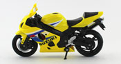 Suzuki GSX R600 2005, scale 1:18 in Yellow by NewRay, diecast miniature scale model bike