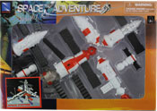Mir Space Station, space adventure assembly kit by NewRay, miniature scaled model spacecraft, astronautical scale model, space mission scale model.