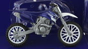 Yamaha YZ 450F, scale 1:18 in Blue by NewRay, diecast miniature scale model dirt bike.