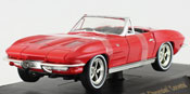 Chevrolet Corvette 1963, scale 1:32 in Red by Signature Models, diecast miniature scale model vintage classic car.