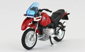 BMW R1100 GS, scale 1:18 in Red by Welly, diecast miniature scale model bike